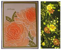 Are you looking for a unique design idea for a card?  Try this: use an embossing folder to create the design and texture for a tri-fold ca...