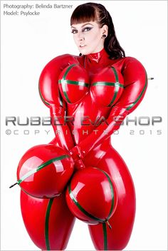 Inflated Rubber Doll Catsuit - Inflatable Latex - Rubber Eva Shop