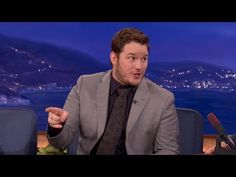Chris Pratt Was A Kick-Ass Coupon Salesman - CONAN on TBS - YouTube / The bit at the end with his baby made me laugh so hard.