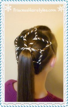 Snowflake hair, perfect for Christmas and winter holidays