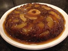 Best Apple Upside Down Cake- this was so easy to make and delicious! My husband couldn't stop telling me how good it was, and he's not a big apple fan. I didn't have apple juice concentrate or cider, so I used apple cranberry juice, and also used 1/2tsp of vanilla extract (which was not listed in the recipe)- it turned out amazing!   http://www.recipesquickneasy.com/apple-upside-down-cake/
