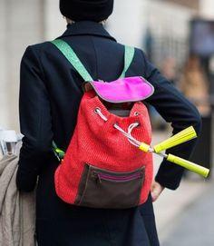 Neon backpack