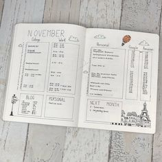 November is almost over so it's time for a montly spread photo! This is what my montly spread looks like when it's almost complete.