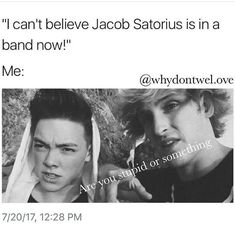 Zach dose not even look like Jacob Satorius and Zach is way hotter Jacob Satorius, Why Dont We Imagines, Funny Memes, Hilarious, Why Dont We Band, You Stupid, Zach Herron, Corbyn Besson, Make Me Happy