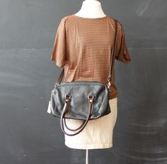cross body purse black and brown by cheapopulance on Etsy, $35.00