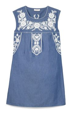 Embroidered bohemian chic: the Tory Burch Calita dress