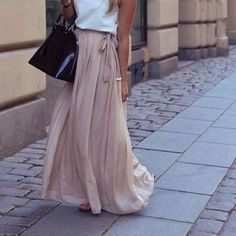 I am in love with the material that this soft, flowing maxi skirt has.