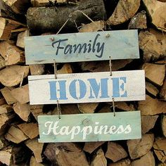 HaM / Family HOME Happiness Wood with quote - sign