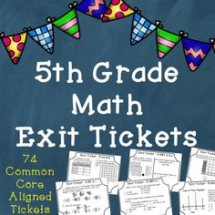 5th grade math exit tickets! These are the best way to assess and plan math small groups! Love the test prep questions included!