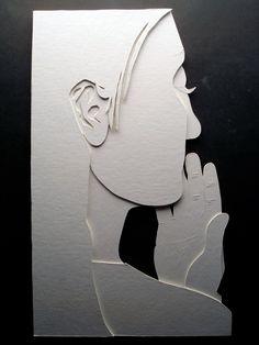 low-relief portrait of fellow student