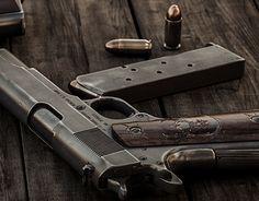 3D Illustration, Recreating Colt 1911 A1