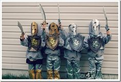Best of 4tunate 2012: Boyhood - outings, books, activities, knight and shining armors duct tape costumes.  From a home with quadruplet boys!!!!