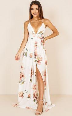 171fde48601 Shine Through Maxi Dress In White Floral Produced