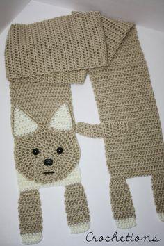 Crochet PATTERN Chihuahua Scarf / Dog Breed Scarf Puppy Moogly Crochet, Crochet Fox, Cute Dogs Breeds, Dog Breeds, Crochet Scarves, Crochet Hats, Crochet Dog Sweater, Cat Scarf, Baby Knitting