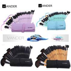 VANDER 32pcs Makeup Brushes Set Professional    Pouch Bag