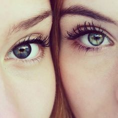 perfect... if the girl on the left had brown eyes representing Isabella and the girl on the right has more blue