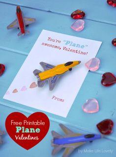 Free Printable DIY Toy Plane Valentines Printables
