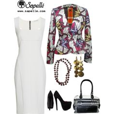 """We're print-mad today."""" by sapellestyle African Inspired Fashion, African Print Fashion, Africa Fashion, Fashion Prints, African Attire, African Wear, African Dress, Classy Outfits, Casual Outfits"""