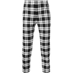 c3b699924f Haider Ackermann skinny checked trousers ( 566) ❤ liked on Polyvore  featuring men s fashion