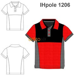 POLERA TRICOLOR Camisa Polo, Corporate Uniforms, Lacoste, Men's Wardrobe, Polo T Shirts, Sport Wear, Kids Wear, Technical Drawings, Unisex