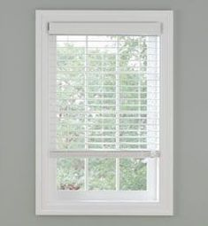 White wood blinds for bedrooms