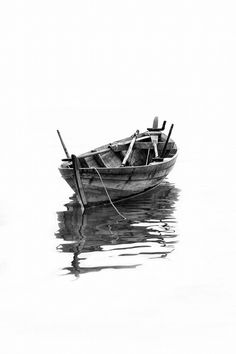 A Lonely Boat by Muhammad Yani Sidi - Photo 77748571 / Cool Pictures, Cool Photos, Boat Drawing, Boat Art, Old Boats, Boat Painting, Photos Of The Week, Belle Photo, Art Sketches