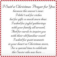 I Said A Christmas Prayer Religious Christmas Card Set of 20 - View 3 - Christmas sayings Christmas Card Verses, Christmas Prayer, Religious Christmas Cards, Christmas Sentiments, Christmas Program, Christmas Blessings, Card Sentiments, A Christmas Story, Christmas Greetings