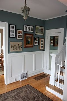 The Wisteria House: More on the Entryway: Frame Walls