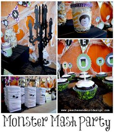 Monster Mash Party by Peaches and Mint {tons of free printables!}