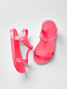 T-strap jelly sandal