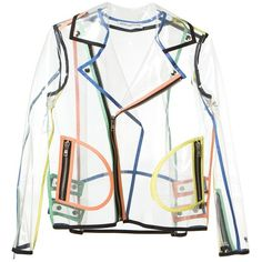 WANDA NYLON transparent biker jacket (€630) found on Polyvore