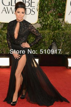 front short and long back celebrity dresses Free shipping long sleeve lace sheath column chiffon rihanna white dress gala dress $147.99