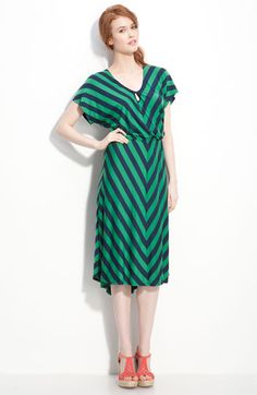 Olivia Moon Chevron Stripe Dress. It's hard to find dresses that actually cover your body these days. Let alone cute ones.
