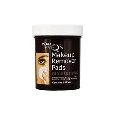 Andrea Eye Q's Moisturizing Eye Makeup Remover Pads, 65 Count (Pack of Soothes The Delicate Eye Area While It Cleans Gentle Formula Contains Aloe Vera Gel Easily Remove All Types Of Makeup Does Not Leave A Greasy Residue Moisturizing Formula Best Makeup Remover, Eye Make-up Remover, Makeup Remover Pads, Makeup Removers, Makeup Tips, Eye Makeup, Types Of Makeup, Aloe Vera Gel, Mascara