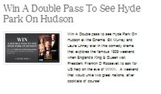 Win A Double Pass To See Hyde Park On Hudson Hyde Park On Hudson, Win Tickets, Rock Concert, Have Fun