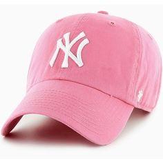 '47 Brand MLB New York Yankees Light  Pink Clean Up Cap Retro Hat New  #47Brand #CleanUpDadCapDadHat #NewYorkYankees