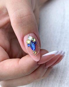 3d Acrylic Nails, Crystal Nails, Bling Nails, Gem S, Nail Manicure, Short Nails, Nail Arts, Nails Inspiration, Nail Colors