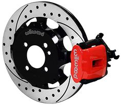 Front Red Brake Calipers And Rotors Pads For 2002-2004 Mini Cooper