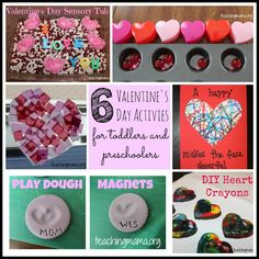 Teaching Mama: 6 Valentine's Day Activities for Toddlers and Preschoolers. Pinned by SOS Inc. Resources http://pinterest.com/sostherapy.