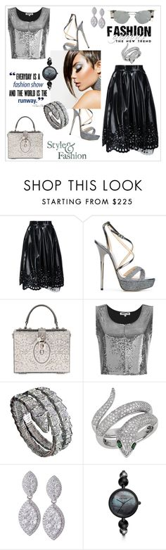 """Style&Fashion"" by zabead ❤ liked on Polyvore featuring Marc Jacobs, Jimmy Choo, Dolce&Gabbana, McQ by Alexander McQueen, Clairol, Bulgari, Effy Jewelry, FOSSIL, Linda Farrow and chic"