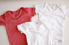 Nesting: Ruched Onsies - delia creates - great idea for a girl, would make a lovely gift!