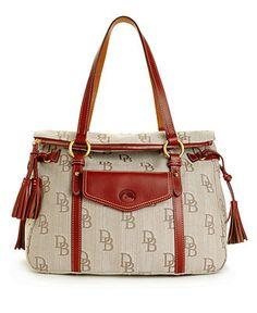 Dooney & Bourke Handbag, Signature Jacquard Pocket Shopper - Dooney & Bourke - Handbags & Accessories - Macy's