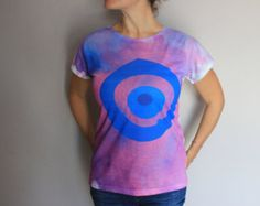 SALE, Evil eye women's t-shirt, Free shipping, evil eye tee, Purple water color print women's boho tee, unique gift for her, Christmas gift
