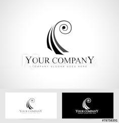 Violin Logo Concept. Viola logo design with spiral concept