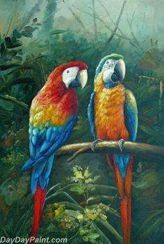 Cheap parrot wall decor, Buy Quality painting calligraphy directly from China paint by number Suppliers: Home Beauty diy painting calligraphy pictures by numbers coloring paint by number oil drawing birds parrot wall decor Paintings Famous, Cheap Paintings, Parrot Painting, Diy Painting, Painting Canvas, Wildlife Paintings, Animal Paintings, Bird Paintings, Bird Drawings