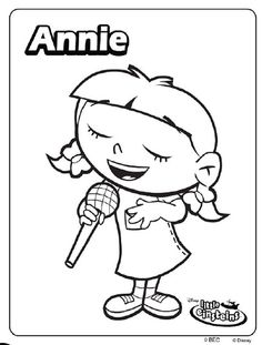 find this pin and more on parties little einsteins little einsteins annie coloring page
