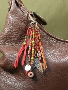 Purse Charm Zipper Pull Key Chain Charm