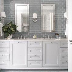 #grayandwhite my fav! by bellainteriorsofnc Bathroom designs.
