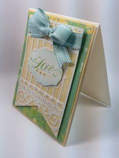 Courtney Lane Designs: Love you card made using the NEW Pretty Pennants cartridge #Cricut