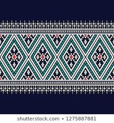 Textile Pattern Design, Textile Patterns, Pattern Art, Thai Pattern, Green Velvet Dress, Bird Theme, Border Pattern, Ethnic Patterns, Traditional Design